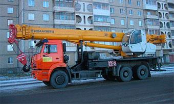 Аренда автокрана грузоподъемностью 35 тонн